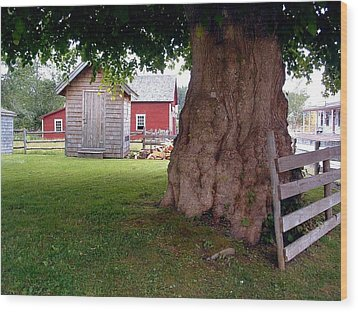History Sherbrooke Village Nova Scotia Wood Print