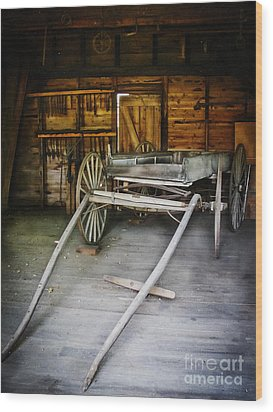 Hitch Your Wagon Wood Print by Colleen Kammerer
