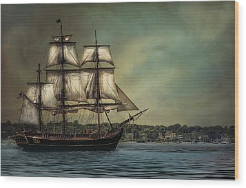 Hms Bounty Wood Print by Robin-Lee Vieira