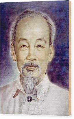Ho Chi Minh 1890-1969 Wood Print by Everett