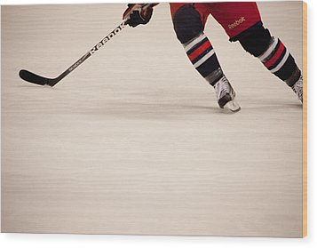 Hockey Stride Wood Print by Karol Livote