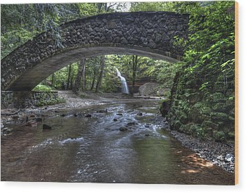 Hocking Bridge Wood Print