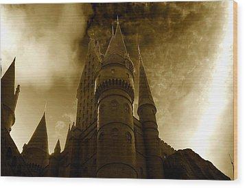 Hogwarts Castle Wood Print by David Lee Thompson