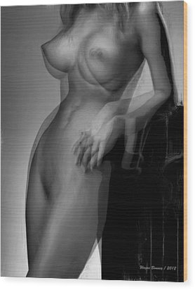 Hold On Wood Print by Wayne Bonney