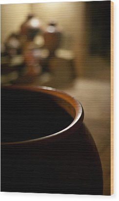 Holding Wood Print by Mike Reid