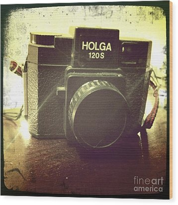 Holga Wood Print by Nina Prommer