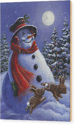 Holiday Magic Wood Print by Richard De Wolfe