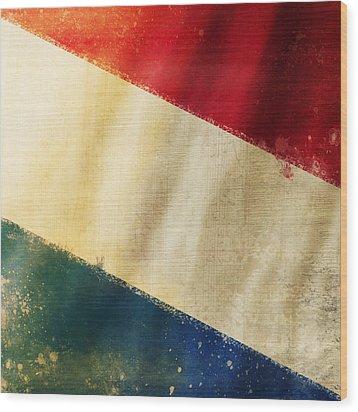 Holland Flag Wood Print by Setsiri Silapasuwanchai