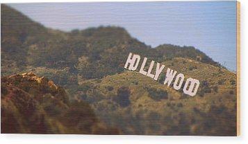 Hollywood Living Wood Print by Brad Scott