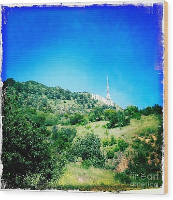 Wood Print featuring the photograph Hollywood by Nina Prommer