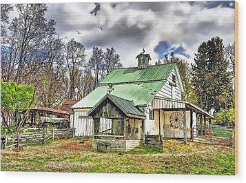 Holmes County Farm Wood Print by Tom Schmidt