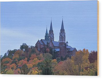 Holy Hill Wood Print by Kristine Bogdanovich