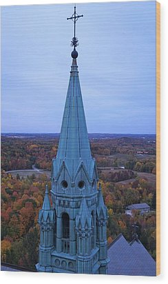 Holy Hill Steeple  Wood Print by Kristine Bogdanovich