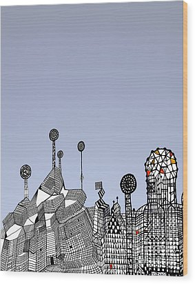 Homage To Gaudi Wood Print by Andy  Mercer