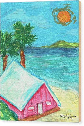 Home By Shore Wood Print by William Depaula