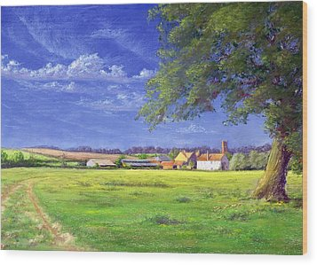 Home Field Wood Print by Anthony Rule
