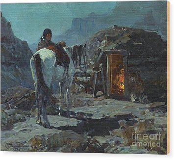Home Of The Navajo Wood Print by Pg Reproductions