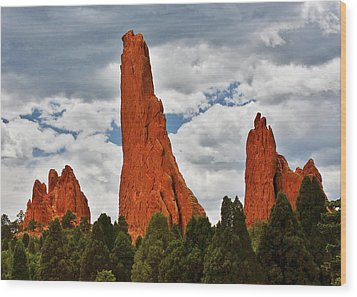 Home Of The Weather God - Garden Of The Gods - Colorado City Wood Print by Christine Till