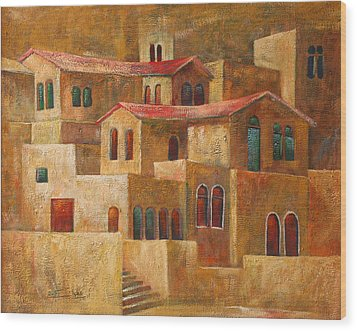 Homes Wood Print by Adeeb Atwan