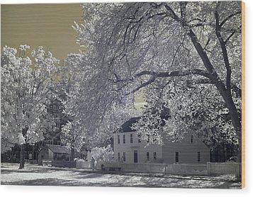 Homestead Wood Print by Joann Vitali