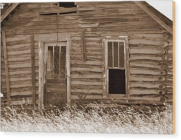 Homestead Past Wood Print by Marty Koch