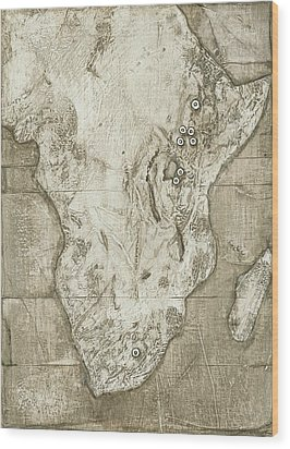 Hominid Fossil Sites In Africa Wood Print by Kennis And Kennismsf