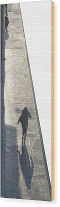 Hommage To Leon Spillaert Wood Print by Jonathan Eden-Drummond