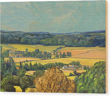 Hommage To Vincent Van Gogh - Zuid Limburg Wood Print by Nop Briex