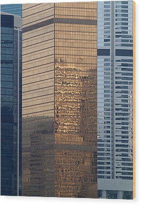 Hong Kong Gold Wood Print by Michael Canning