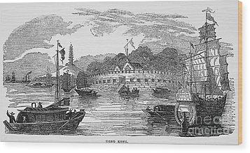 Hong Kong: Harbor, 1842 Wood Print by Granger