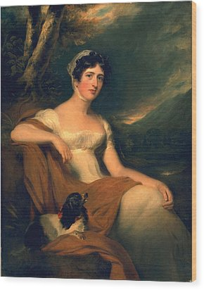 Honorable Emma Cunliffe Later Emma Cunliffe-offley Wood Print by Thomas Lawrence