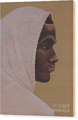 Hood Boy Wood Print by Kaaria Mucherera