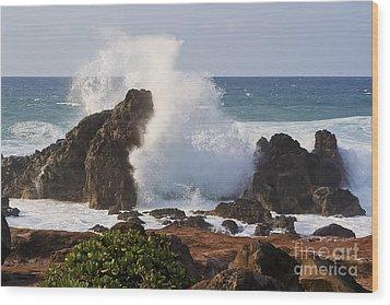 Hookipa Beach Wave 1 Wood Print by Teresa Zieba