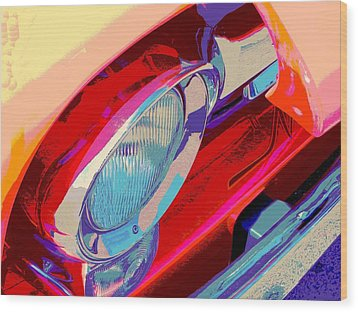 Hoots Crusin Central Wood Print by Chuck Re