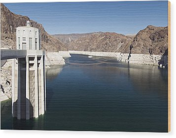 Hoover Dam Wood Print by Gloria & Richard Maschmeyer