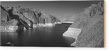 Hoover Dam Reservoir - Architecture On A Grand Scale Wood Print by Christine Till