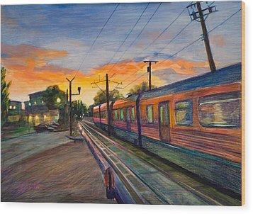 Hope Crossing Wood Print by Athena  Mantle
