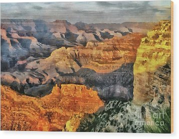 Hopi Point - Grand Canyon Sunset Wood Print