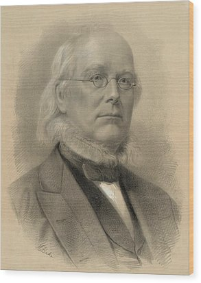 Horace Greeley 1811-1872, Ca. 1872 Wood Print by Everett