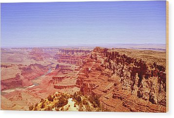 Wood Print featuring the photograph horizon in Grand Canyon by Rima Biswas