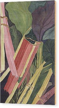 Hornby's Rhubarb Pie Wood Print by Joan Zepf