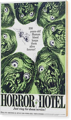Horror Hotel, Aka The City Of The Dead Wood Print by Everett