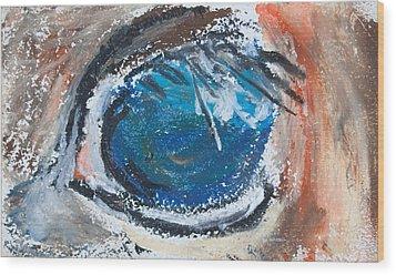 Horse Eye Wood Print by Jim  Arnold