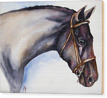 Horse Head 5 Wood Print by Leyla Munteanu