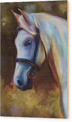 Horse Of Colour Wood Print