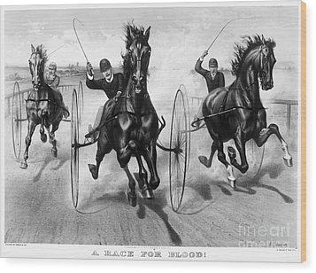 Horse Racing, 1890 Wood Print by Granger