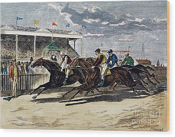 Horse Racing, Ny, 1879 Wood Print by Granger