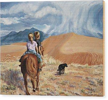 Horsefeathers Wood Print