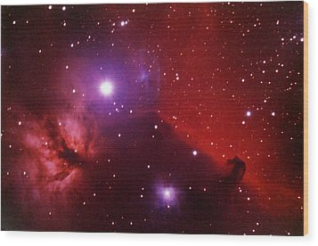 Horsehead Nebula In The Belt Of Orion Wood Print by A. V. Ley