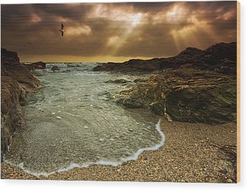 Horseley Cove Wood Print by Mark Leader